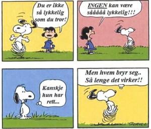 Såååå lykkelig Snoopy